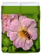 Beetle In A Rose 003 Duvet Cover