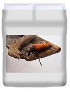 Beetle Pondering Duvet Cover