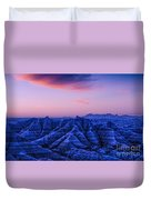 Before Sunrise, Badlands National Park Duvet Cover