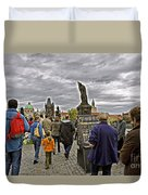 Before The Rain On The Charles Bridge Duvet Cover