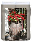 Begonias In The Barrel Duvet Cover