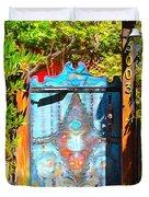 Behind The Blue Door Duvet Cover