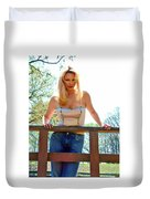 Behind The Fence Duvet Cover