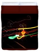 Behind The Lights Duvet Cover
