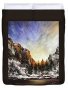 Behind The Mountains  Duvet Cover