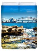 Behind The Rocks Duvet Cover