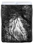 Behind The Tree-bw Duvet Cover