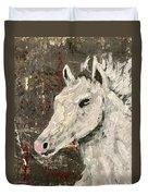 Behold A White Horse Duvet Cover