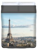 Paris Roofs And Tower Duvet Cover