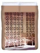 Beige Chairs Palm Springs Duvet Cover