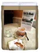 Beignet And Coffee At Cafe Du Monde Duvet Cover