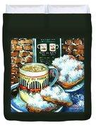 Beignets And Cafe Au Lait Duvet Cover