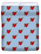 Bejewelled Heart Half Drop Duvet Cover