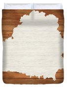 Belarus Rustic Map On Wood Duvet Cover