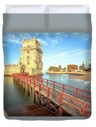 Belem Tower Lisbon Duvet Cover