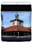 Belfry Of Revel City Duvet Cover
