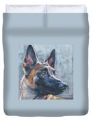 Belgian Malinois In Winter Duvet Cover