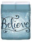 Believe Winter Art Duvet Cover