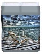 Belize Beach Chair #2 Duvet Cover