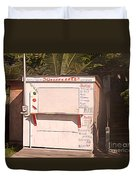 Belize - Sidewalk Breakfast Stand Duvet Cover