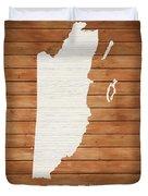 Belize Rustic Map On Wood Duvet Cover