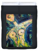 Bell Bottom Blues Duvet Cover