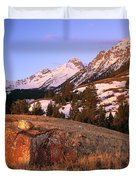 Bell Mountain Sunrise Duvet Cover