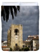 Bell Tower Against Roiling Sky Duvet Cover