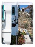 Santa Catalina Island Bell Tower Duvet Cover