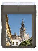 Bell Tower - Cathedral Of Seville - Seville Spain Duvet Cover
