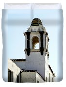 Bell Tower In Santa Cruz Duvet Cover