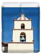 Bell Tower Mission San Buenaventura Duvet Cover