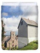 Bell Tower St Mylor Cornwall Duvet Cover