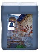 Bell Wall And Eastern Wall Of Serra Chapel In Sacred Garden Mission San Juan Capistrano California Duvet Cover