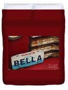 Bella License Plate Duvet Cover