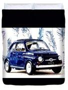 Bella Macchina 8 - Fiat 500 F Duvet Cover