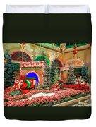 Bellagio Christmas Train Decorations Angled 2017 2 To 1 Aspect Ratio Duvet Cover
