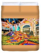 Bellagio Conservatory Fall Peacock Display Side View Wide 2 To 1 Ratio Duvet Cover