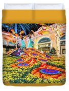 Bellagio Conservatory Fall Peacock Display Side View Wide 2017 Duvet Cover