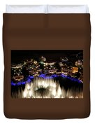 Bellagio Hotel Fountain Duvet Cover