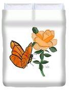 Belle And Flower Duvet Cover