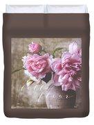 Belle Fleur Pink Peonies Duvet Cover