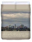 Bellevue Skyline Along Lake Washington Duvet Cover