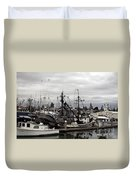 Bellingham Bay Ship Yard Duvet Cover