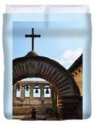 Bells Of Mission San Juan Capistrano Duvet Cover