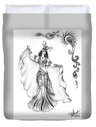 Belly Dancer With Veil. Friend Of Ameynra Duvet Cover