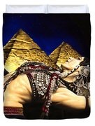 Bellydance Of The Pyramids - Rachel Brice Duvet Cover