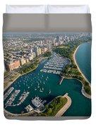 Belmont Harbor Chicago Duvet Cover