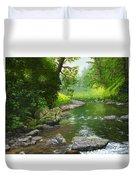 Below Drift Creek Falls Duvet Cover