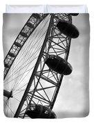 Below London's Eye Bw Duvet Cover